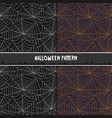 halloween spider web seamless pattern design vector image