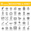 honey beekeeping apiculture icons vector image