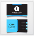 Info with bubble icon business card template