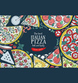 italian pizza top view colorful frame a vector image vector image