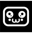 kawaii cute face icon vector image