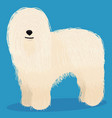 komondor dog cartoon vector image vector image