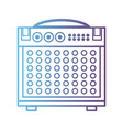 line electronic audio console to play music vector image vector image