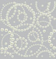 luxury seamless pattern with round shape border vector image vector image