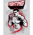 MMA fighter design vector image vector image