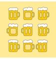 mug beer vector image vector image