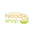 natural noodle logo vector image vector image