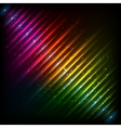 Rainbow neon diagonal equalizer vector image vector image