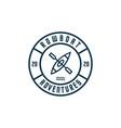 rowboat emblem logo premium vector image