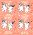 seamless pattern with cute bears in party vector image vector image