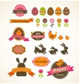 Set of easter vintage elements banner labels and vector image