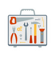 set of flat icons on the topic of repair vector image