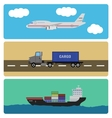 shipment and cargo infographics elements vector image