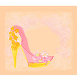 shoes vintage flowers abstarct poster vector image vector image