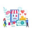 shopping for the holiday by internet vector image vector image