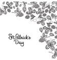 st patricks day floral background vector image vector image