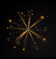 star explosion gold glittering dust trail vector image