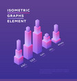 stylish design isometric graphs vector image vector image