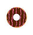 tasty fast food chocolate doughnut vector image vector image