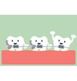 teeth orthodontics vector image vector image