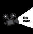 time movie design vector image