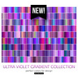 trend purple metal gradients collection ultra vector image