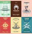 vintage bakery posters vector image