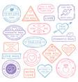 vintage love letter postcard valentines day vector image
