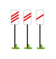 warning signs approaching the railway crossing vector image vector image