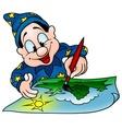 wizard painter vector image vector image