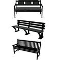 benchs vector image