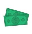 dollar notes vector image