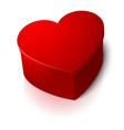 realistic blank big bright red heart shape vector image