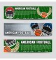 American football banners vector image