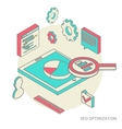 isometric background seo optimization vector image