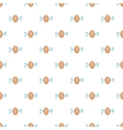 Fingerprint scan pattern cartoon style vector image