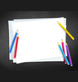 a4 paper and color pencils vector image vector image