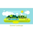 Abstract outdoor summer landscape Trees and vector image vector image