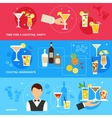 Alcohol Cocktails banner set vector image vector image