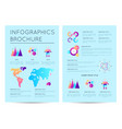 analytical report with various infographics vector image vector image