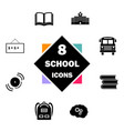 back to school icon set education icons contains vector image