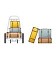baggage claim luggage cart vector image