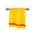 bathroom towel icon flat style vector image vector image