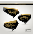 Black crystal frame set in warm golden light vector image vector image