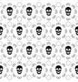 Brown Skull Pattern vector image