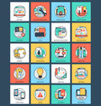 bundle of design and development flat icon vector image