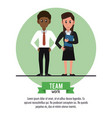 business teamwork cartoon infographic vector image vector image
