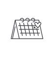 calendar line icon concept calendar linear vector image vector image