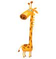 cartoon giraffe character vector image vector image