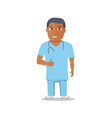 Cartoon Medical Character isolated on white vector image vector image